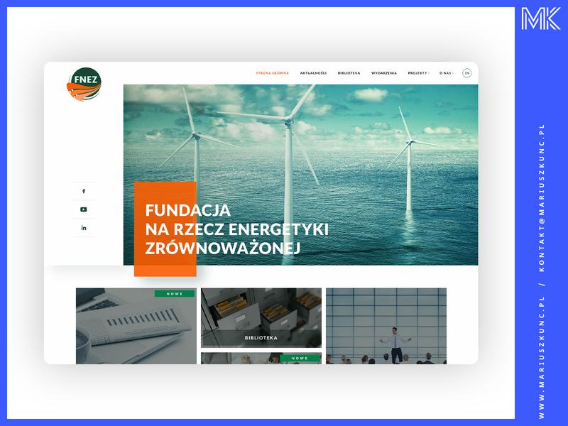 FNEZ / webdesign photoshop layout grid homepage typography design web mariuszkunc webdesign ui