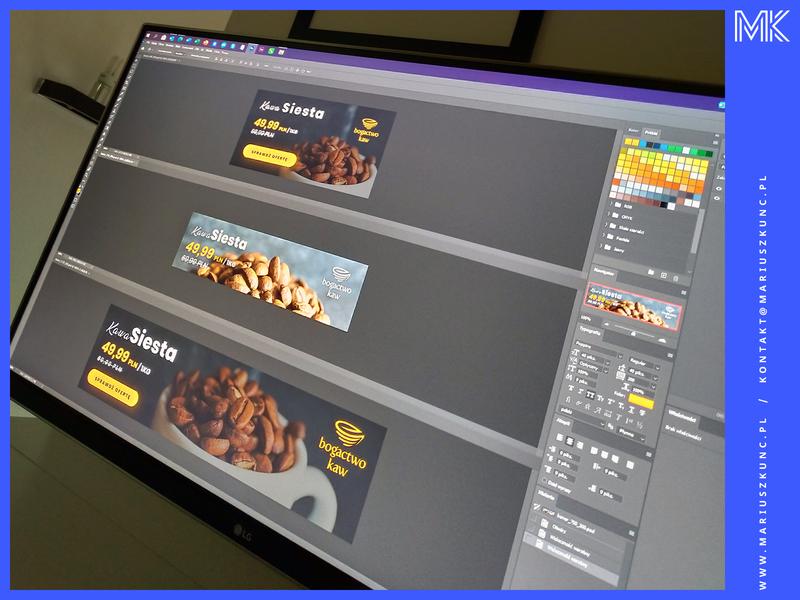 Adwords / baners / design photo uidesign typography google reklama coffee photoshop ui mariuszkunc design branding baner adwords