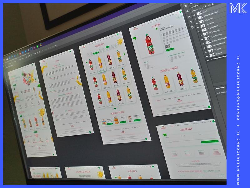 Producent soków / webdesign uidesign layout ui branding photoshop typography mariuszkunc design web webdesign website