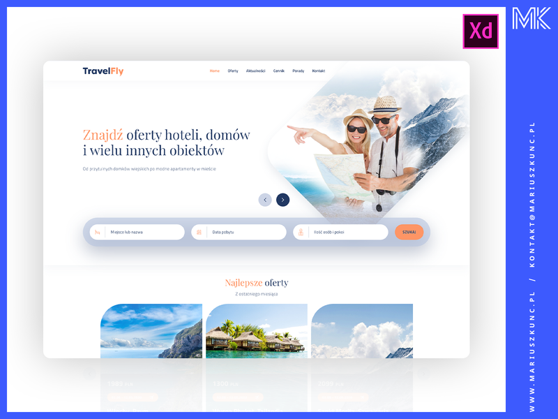 Biuro podróży / webdesign / homepage uidesign layout typography logo adobe xd homepage design web mariuszkunc ui webdesign