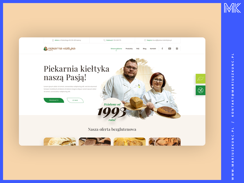 Piekarnia / webdesign / homepage typography photoshop mariuszkunc homepage uidesign design web ui layout webdesign