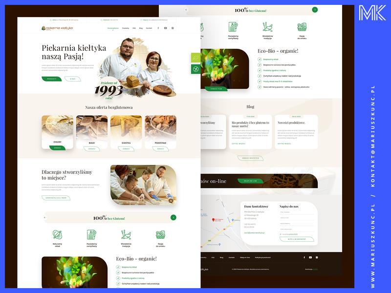 Piekarnia / webdesign / homepage web photoshop typography mariuszkunc uidesign homepage design layout ui webdesign