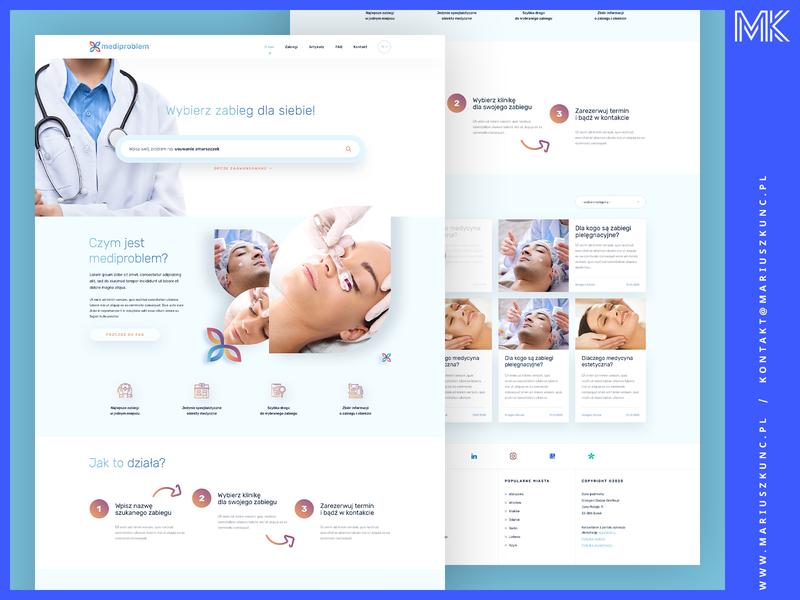 Wyszukiwarka zabiegów - Web Design ux typography logo uidesign photoshop homepage ui design layout webdesign