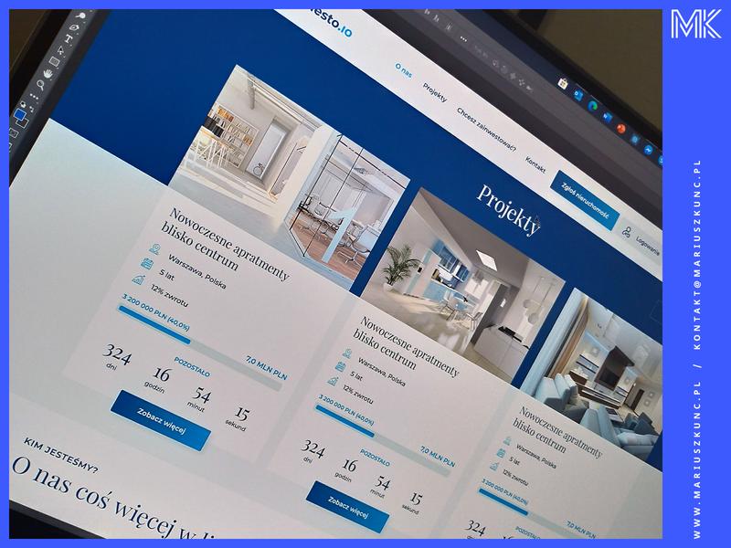 Nieruchomości / inwestowanie / uidesign typography design web ux uidesign mariuszkunc nieruchomosci inwestowanie layout ui webdesign