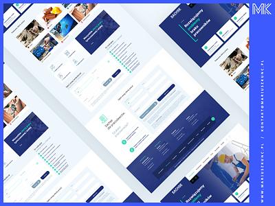 Agencja Pracy / webdesign / homepage icon ux photoshop homepage layout uidesign design web webdesign ui