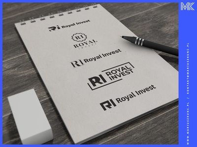 Deweloper - RI - logo typogaphy brand identity branding design coreldraw logo design illustration brand design royal invest logos logodesign logotype icon branding typography vector logo