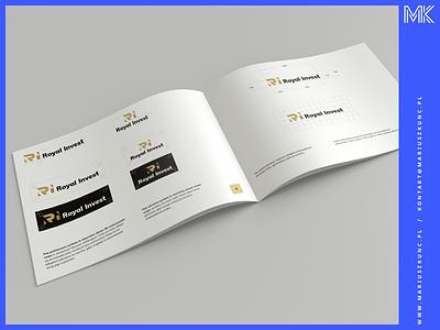 Royal Invest / brandbook logo branding and identity logodesign logos brand identity brand design brandbook mark book branding brandbook