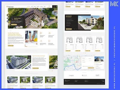 RI / deweloper / nieruchomości logo grid photoshop homepage design web uidesign layout ui webdesign
