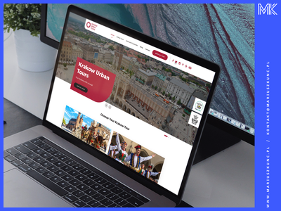 KrakowUrbanTours - webdesign branding typography ux homepage uidesign layout design ui web webdesign