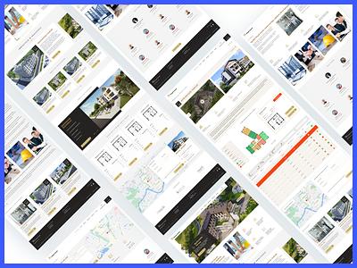 Royal Invest logo real estate page website design ui design branding ux uidesign web design ui layout webdesign