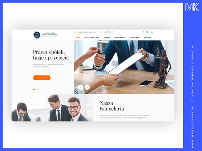 Kancelaria Radcy Prawnego homepage layout photoshop grid ux uidesign ui webdesign web design