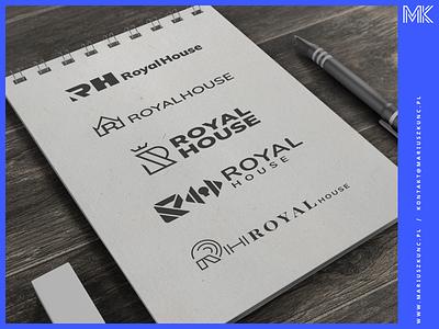 RoyalHouse - logo logosketch flat minimal icon typography design illustration branding vector logos logo design logo