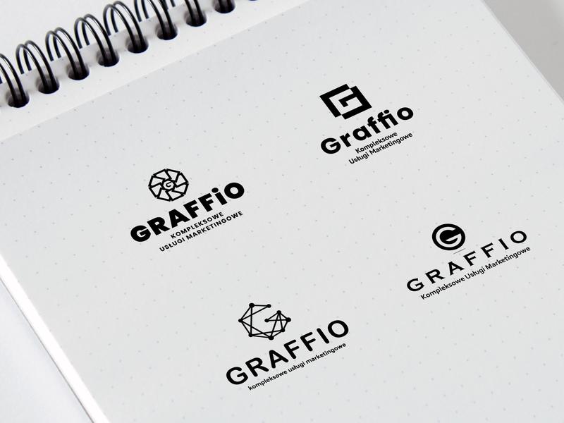 Graffio / logo mariuszkunc prezentacja draw corel coreldraw vector logos logotypes marka znak logotype logo