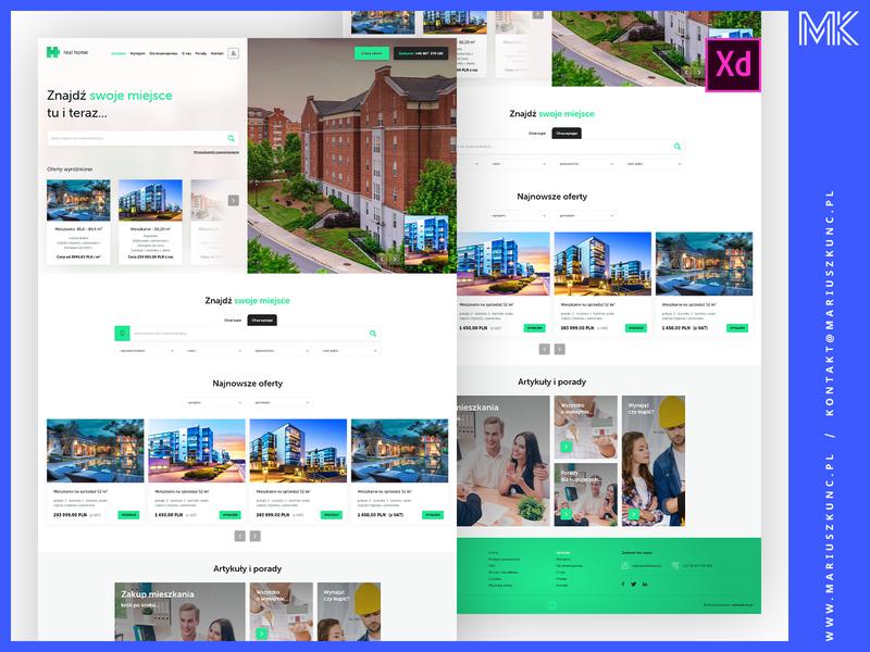 Biuro nieruchomości / webdesign uidesign typography mariuszkunc homepage branding ui layout web design webdesign
