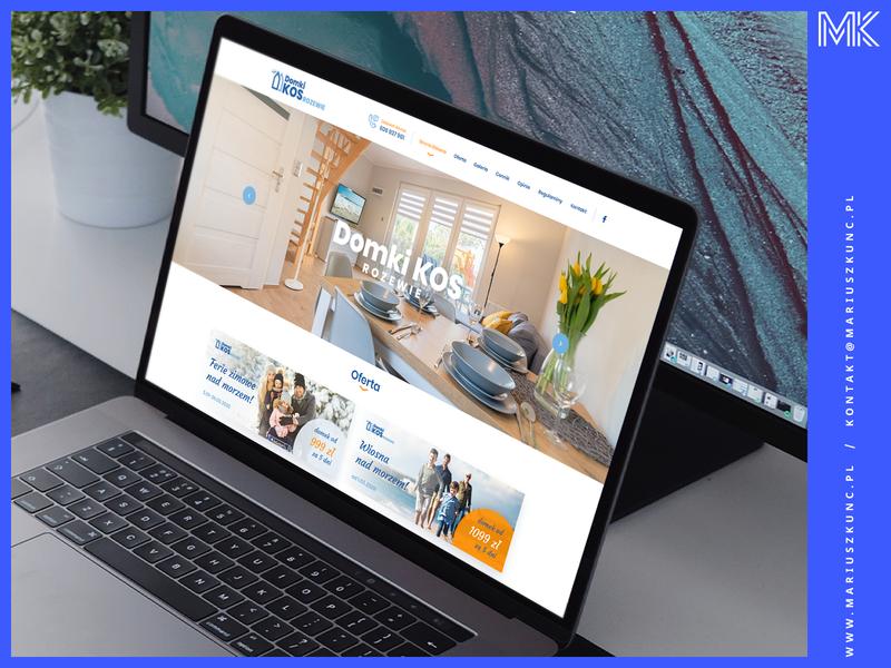 Domki nad morzem / webdesign homepage layout vector logo ux uidesign mariuszkunc design web ui webdesign