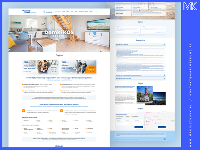Domki / webdesign / onepage