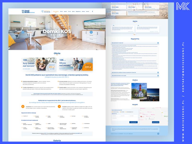Domki / webdesign / onepage mariuszkunc uidesign design web ux homepage logo branding ui webdesign