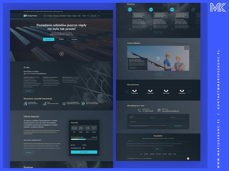 Webdesign / Energy Project ux photoshop uidesign mariuszkunc layout branding ui design webdesign web