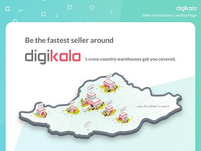 Digikala's Cross-country Warehouse Illustration flat isometric illustration isometric vector design illustration