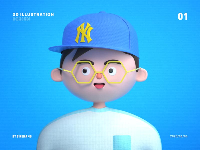 3D ILLUSTRATION vector app logo illustration