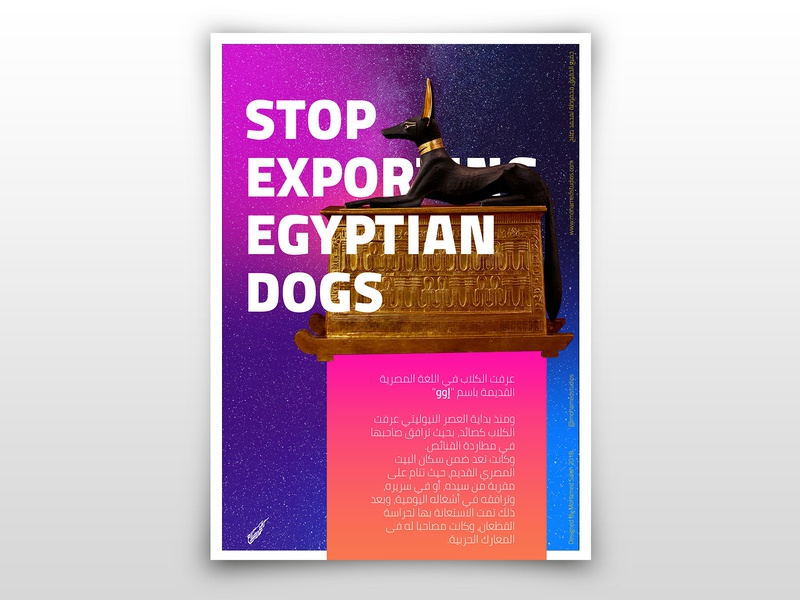 Egyptian Dogs Poster