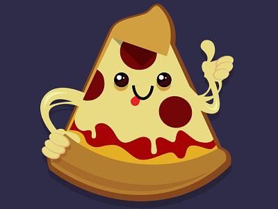Pizzza .Dribbble cartoon cute kawaii food pizza