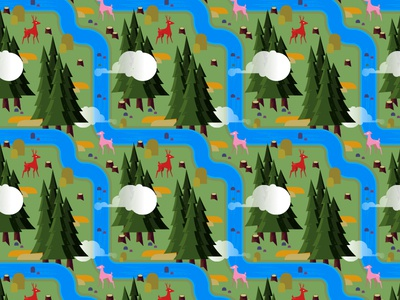 Forest Repeating.Dribbble