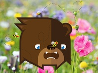 Square Bear Finds the Bees