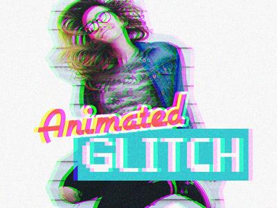 Animated Glitch Photoshop Action (Free)