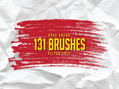 131 Hand Drawn Brushes Free Pack freebie design drawing vector hand drawn graphic design add on brush