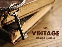 The Vintage Design Bundle: 638 Retro Fonts & Design Elements