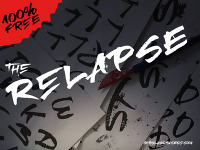 Relapse – A Handmade Free Font fonts bundle commercial fonts typography fonts