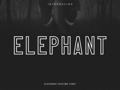 Free Elephant Font free fonts fonts bundle commercial fonts typography fonts
