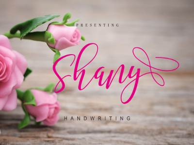 Shany Free Font – A Modern Handmade Typography free fonts fonts bundle commercial fonts typography fonts
