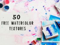50 Free Vibrant Watercolor Textures