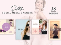 36 Free Subtle Social Media Banners