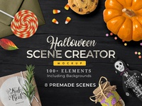 Free Halloween Scene Creator: 8 Pre-made Scenes | 100+ Elements