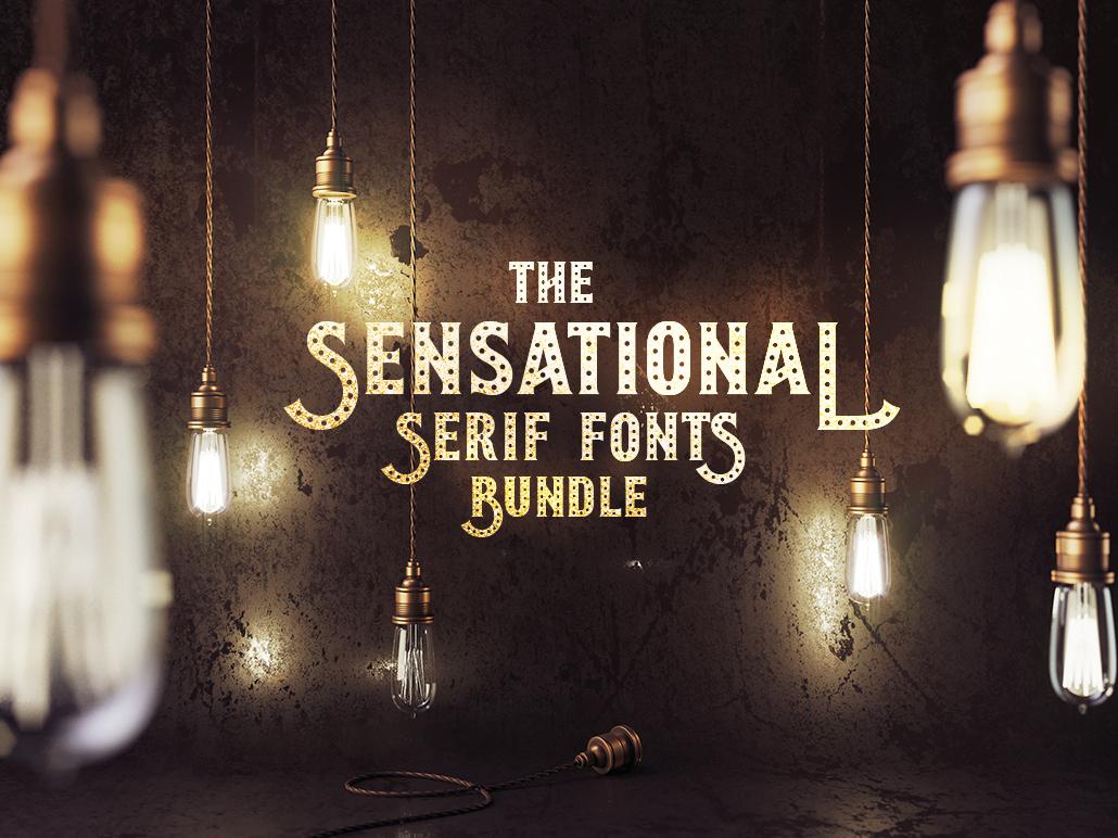 The Sensational Serif Fonts Bundle: 210 Unique Fonts serif serif font serifs fonts bundle commercial fonts typography fonts