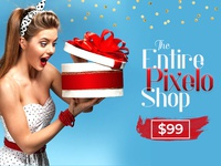 Merry Christmas Offer - Grab The Entire Pixelo Shop Now