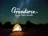 The Grandiose Script Fonts Bundle