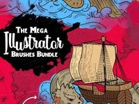 The Mega Illustrator Brushes Bundle