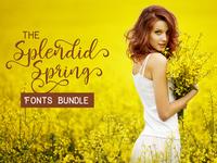 The Splendid Spring Fonts Bundle