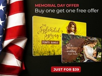 Memorial Day Offer - Buy One Get One Free