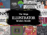 The Mega Illustrator Brushes Bundle