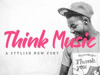 Think Music - Free Script Font