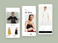 shopping ux design app ui