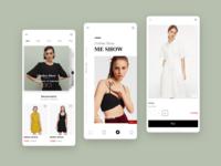 shopping ux design app ui