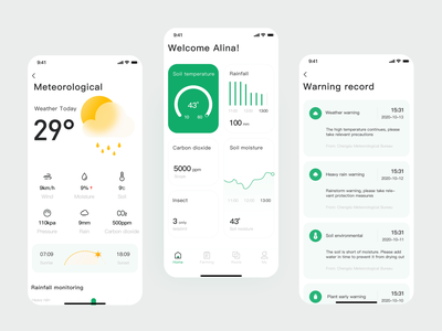 intelligent agriculture_app ux icon design app ui
