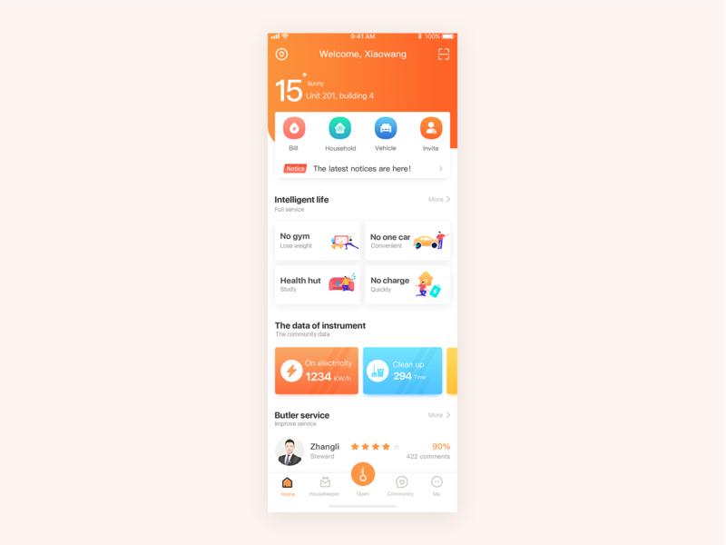 Intelligence community app app illustration icon ui