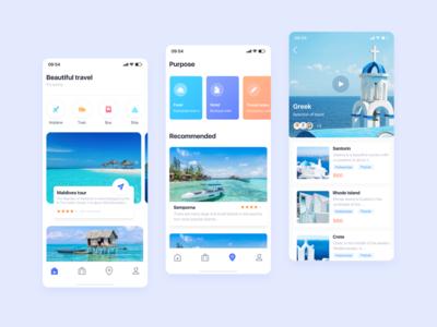 travel-APP travel design app ui icon